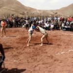 برگزاری مسابقات کشتی با چوخه روستای خایسک سرولایت