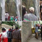 تلاش 4ساعته برای نجات کودک سقوط کرده از آبشار