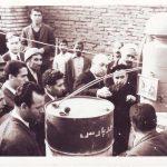 مراسم افتتاحیه چاه عمیق کشاورزی روستای دهنو علی خان آباد( الخان آباد )60 سال پیش